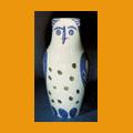 124. Large owl vase