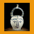 402. Aztec vase with four faces